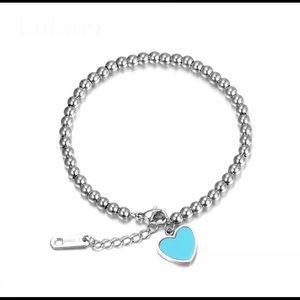 Jewelry - Stainless Steel Heart ❤️ Charm Bracelet